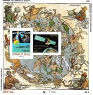 Bolivia,  Scott 2018 # 805,  Issued 1993,  S/S Of 1,  MNH,  Cat $ 12.00 - Bolivia