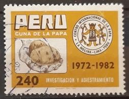 PERU 1982 The 10th Anniversary Of International Potato Centre. USADO - USED. - Perú