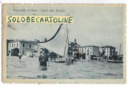 Abruzzo-francavilla Al Mare Veduta Della Spiaggia Da Mare Di Francavilla A Mare Animata Inizi Anni 20 (f.picc./v.retro) - Italien