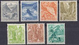 HELVETIA - SUISSE - SVIZZERA - 1936 - Lotto Di 7 Valori Nuovi MH: Yvert 289, 290, 292, 294/297. - Nuovi