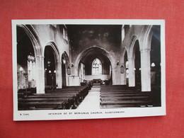 Glastonbury RPPC Interior St Benignus     Ref  3461 - England