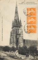 """/ CPA FRANCE 22 """"Bourbriac, Clocher De L'église Paroissiale"""" - France"""