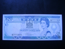"""FIJI ISLANDS - BANK NOTE OF 20 DOLLARS IN STATE """"VERY WELL CONSERVED"""" - Fidschi"""
