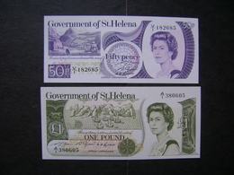 """GOVERNMENT OF St. HELENA - 2 BANK NOTES """"WITHOUT FOLDING"""" PERFECT - St. Helena"""