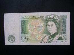"ENGLAND - BANK NOTE ONE POUND, ""WELL PRESERVED"" - 1952-… : Elizabeth II"