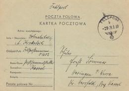 GG Formular: Dt. Poln. Feldpostkarte 26.9.39 Nach Heringen/Werra - Occupation 1938-45
