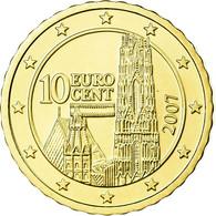 Autriche, 10 Euro Cent, 2007, FDC, Laiton, KM:3085 - Autriche