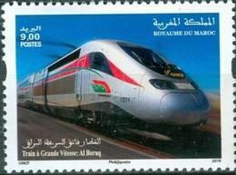 MOROCCO TGV TRAIN A GRANDE VITESSE MAROCAIN AL BORAQ 2019 - Morocco (1956-...)