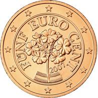 Autriche, 5 Euro Cent, 2007, FDC, Copper Plated Steel, KM:3084 - Autriche
