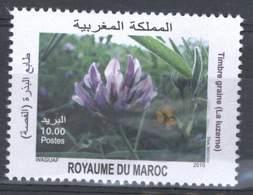 MOROCCO TIMBRE GRAINE LA LUZERNE 2010 - Morocco (1956-...)