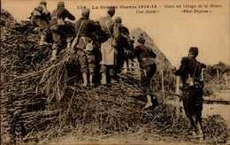 GUERRE 1914...DANS UN VILLAGE DE LA MEUSE  ...CPA ANIMEE - War 1914-18