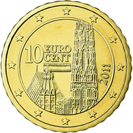 Autriche, 10 Euro Cent, 2011, FDC, Laiton, KM:3139 - Autriche
