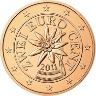 Autriche, 2 Euro Cent, 2011, FDC, Copper Plated Steel, KM:3083 - Autriche