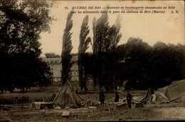 GUERRE DE 1914...MATRIEL DE BOULANGERIE ABANDONNE EN HATE PAR LES ALLEMANDS  ..CPA ANIMEE - War 1914-18