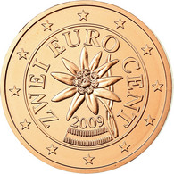 Autriche, 2 Euro Cent, 2009, FDC, Copper Plated Steel, KM:3083 - Autriche