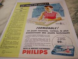 ANCIENNE PUBLICITE JEU BOITE DE MONTAGE   PHILIPS 1963 - Autres