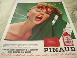 ANCIENNE  PUBLICITE SAVON TRANSPARENT DE PINAUD 1963 - Perfume & Beauty