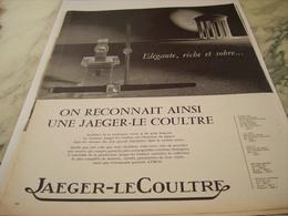 ANCIENNE PUBLICITE RICHE  MONTRE JAEGER LE COULTRE   1963 - Joyas & Relojería