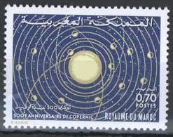 MOROCCO 500 IEME ANNIV. DE COPERNIC ASTROLOGIE - Morocco (1956-...)