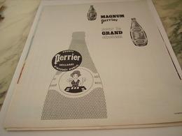 ANCIENNE PUBLICITE POUR LE CHELEM  PERRIER   1963 - Perrier