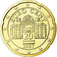 Autriche, 20 Euro Cent, 2007, FDC, Laiton, KM:3086 - Autriche