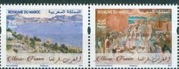 MOROCCO EMISSION COMMUNE FRANCE MAROC J. MAJORELLE P.CEZANNE 2019 - Morocco (1956-...)