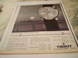 ANCIENNE PUBLICITE 7 PROUESSES MONTRE TISSOT SEASTER 1963 - Joyas & Relojería