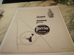 ANCIENNE PUBLICITE EN GRANDE POMPE  PERRIER   1963 - Perrier