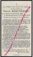 En 1936 Borre (59) Pierre BOUCHEQUET - Décès