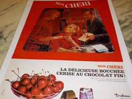 ANCIENNE  PUBLICITE MON CHERI  DULCEA VILLERS ECALLES  1963 - Cioccolato