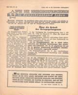 """WWII WW2 Flugblatt Leaflet Propaganda """"WIE DIE KRIEGSGEFANGENEN IN SOWIETRUSSLAND LEBEN"""" Mai 1942 Nr. 38   CODE 1433 - 1939-45"""