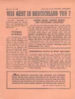 "WWII WW2 Flugblatt Leaflet Soviet Propaganda Against Germany ""Was Geht In Deutschland Vor?"" Mai 1942 Nr. 160  CODE 1476 - 1939-45"