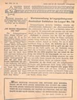 """WWII WW2 Flugblatt Leaflet Propaganda """"WIE DIE KRIEGSGEFANGENEN IN SOWIETRUSSLAND LEBEN"""" Mai 1942 Nr. 41  CODE 1485 - 1939-45"""
