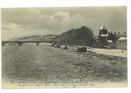 CPA 58 NEVERS LA LOIRE JANVIER 1918 VUE PRISE DU PONT DE LOIRE - Nevers