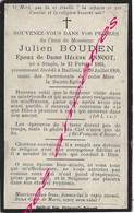 En 1909 Staple Et Bailleul (59)  Julien BOUDEN Ep Hélène ANNOOT Né 1863 - Décès