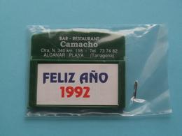 Bar - Restaurant CAMACHO Alcanar Playa ( Tarragona ) 1992 ( Zie Foto's ) NO Used ! - Calendarios