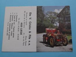 Ets. V. Crickx & Fils > 4020 Liège - 1982 ( Zie Foto's ) ( Voiture / Car ) ! - Petit Format : 1981-90