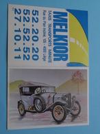 MELKIOR Taxis - Transports > 4000 Liège - 1989 ( Zie Foto's ) ( Voiture / Car ) ! - Petit Format : 1981-90