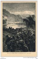 WILHELM  CAMPHAUSEN:  BLUECHERS  RHEINUEBERGANG  -  KLEINFORMAT - Malerei & Gemälde