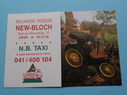 Boulangerie-Parisserie NEW-BLOCH / N.B. Taxi > Liège - 1994 ( Zie Foto's ) ( Voiture / Car ) ! - Calendriers