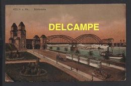 DD / ALLEMAGNE / KÖLN COLOGNE / SÜDBRÜCKE LE PONT SUD , TRAMWAY ET BATEAUX VAPEURS / 1926 - Koeln