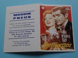 SAN FRANCISCO (Ciné) > MASSIN PNEUS - 4020 Bressoux (Droixhe) 1993 ( Zie Foto's ) ! - Calendarios