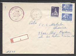 """Romania, Cover With Registration Label(Bianco) Number """"1"""", 1982 - Cartas"""