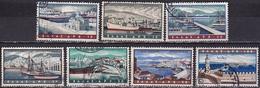 GREECE 1958 Ports Complete Used Set Vl. A 73 / 79 - Luchtpostzegels