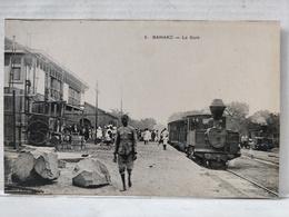 Bamako. La Gare. Animée. Train - Mali