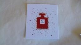 Carte Parfumée Chanel N° 5 L'eau Flacon Rouge  (Noel 2018/2019) - Perfume Cards