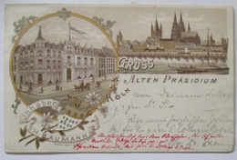 Köln Gruß Aus Dem Alten Präsidium, 1896 Nach Bonn (58190) - Sonstige
