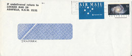 Australia Cover Sent Air Mail To Denmark Dunedin14-9-1992 Single Franked - 1990-99 Elizabeth II