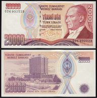 Türkei - Turkey 20000 Lira Banknote 1970 (1995) Pick 202 UNC ATATÜRK  (15783 - Turchia