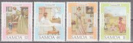 SAMOA     SCOTT NO. 656-59     MNH     YEAR  1985 - Samoa